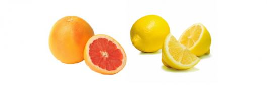 fruits pomelo citron